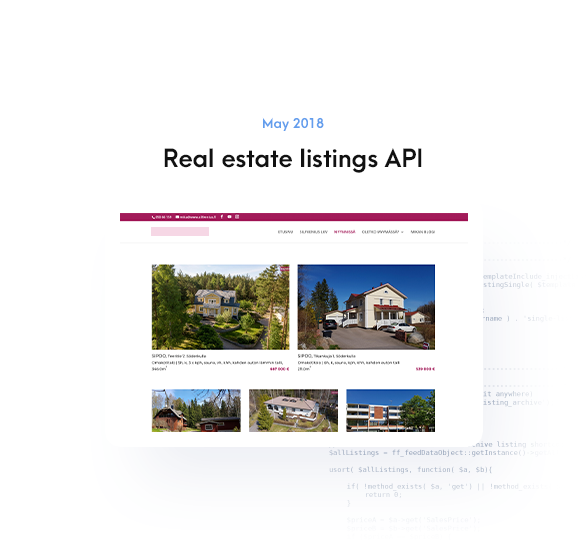 Real estate listings API