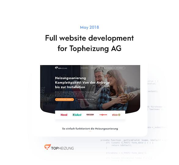 Full website development for Topheizung AG