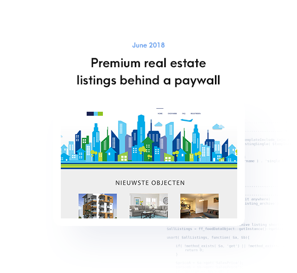 Premium real estate listings behind a paywall
